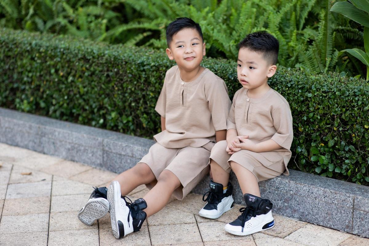 Kiwi Ngô Mai Trang đưa ba con trai về nhà vườn tránh dịch