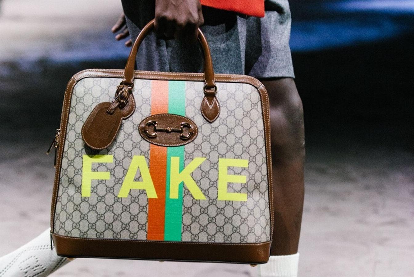 Gucci từng châm biếm vấn nạn hàng nhái bằng chính những sản phẩm của mình