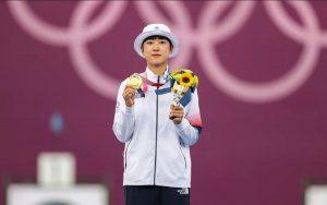 Nữ cung thủ An San đã giành 3 HCV tại Olympic Tokyo cho Hàn Quốc